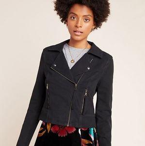 Anthropologie Marrakech Knit Moto Jacket